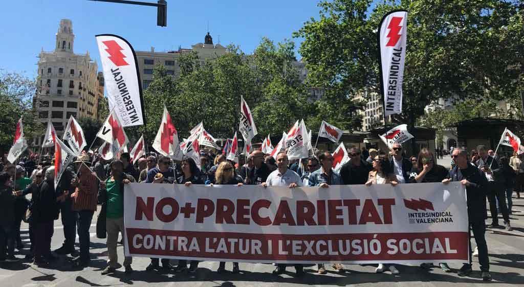 Manifestació de l'1 de maig a València