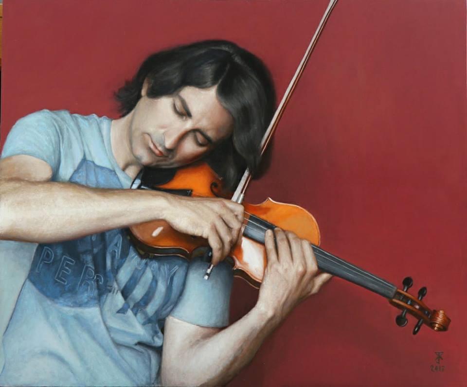 Retrat d'Enrique Palomares, una de les obres exposades.