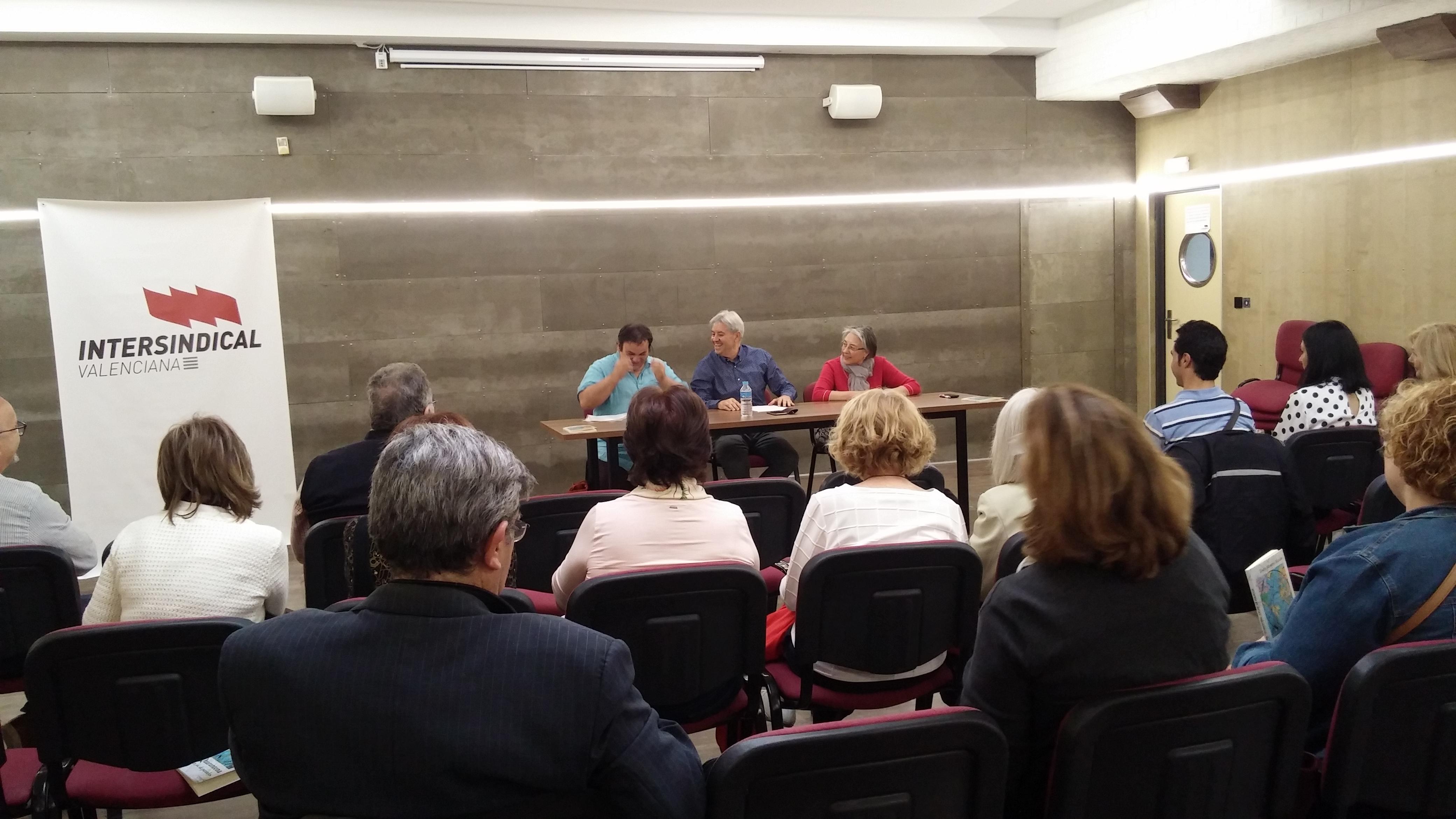 Un moment de la intervenció d'Antoni Rovira. Foto: Miquel Calatayud