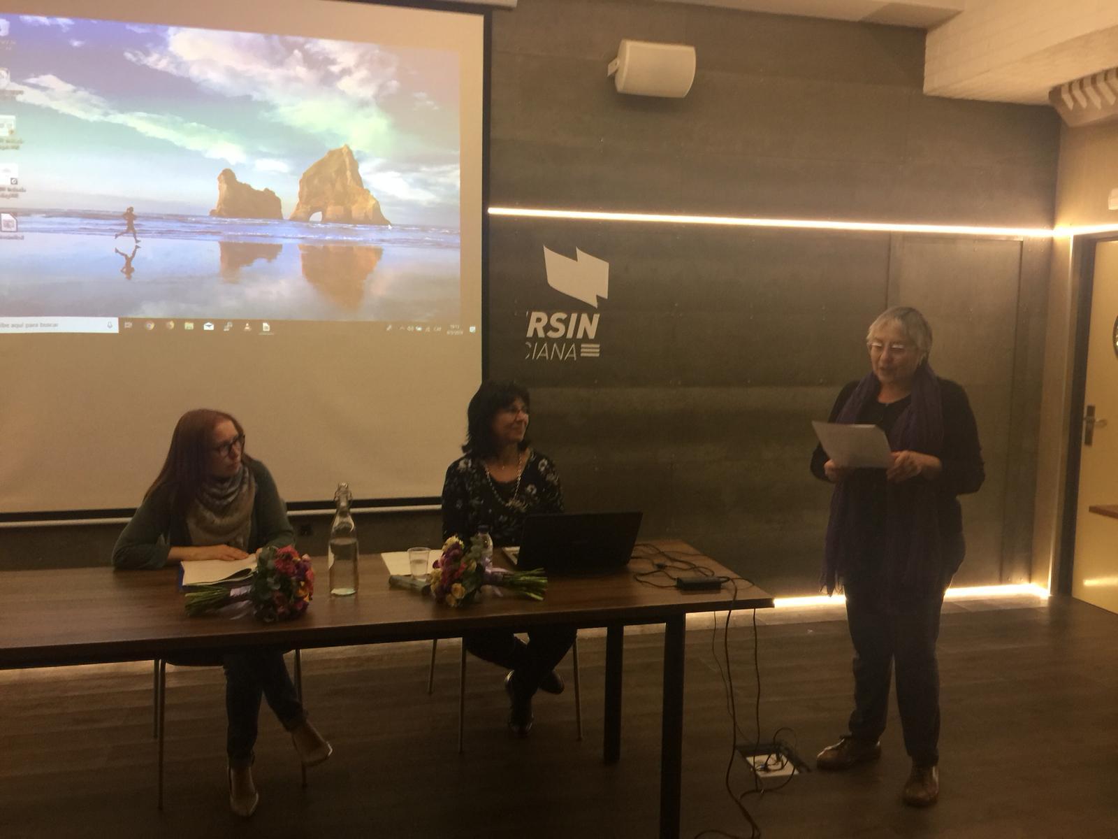 Un moment de la presentació. Foto de Beatriu Cardona