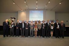 Foto final del lliurament dels Premis Idea.
