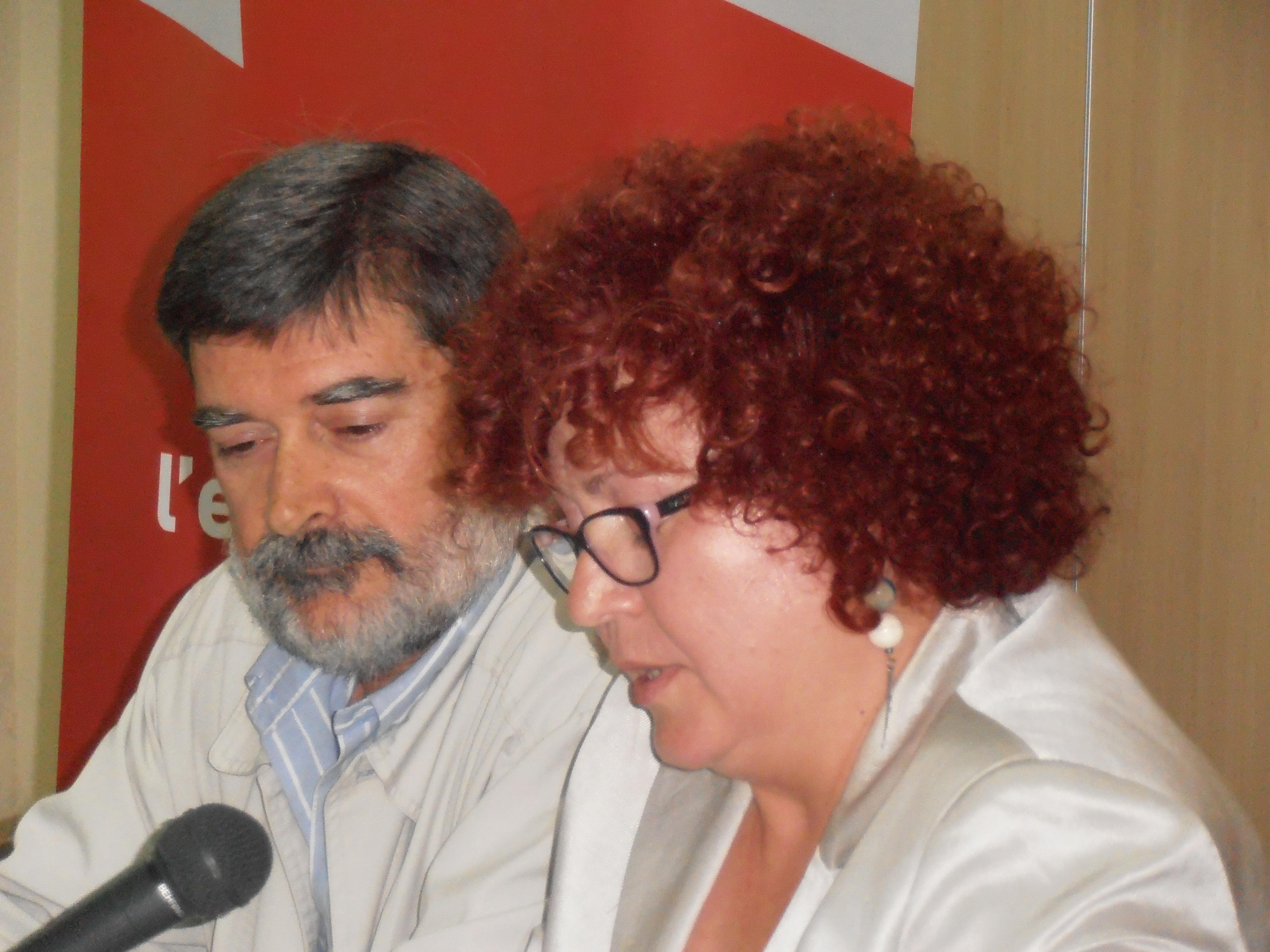 Rosa Roig i el seu mentor, Vicent Esteve. Foto de Manel Alonso