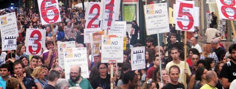 manifestació 15-O València