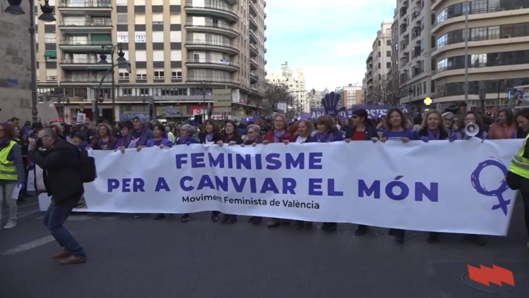 Manifestació a València del 8 de març de 2020