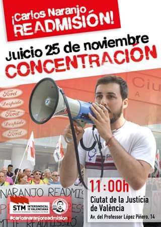 Concentració per la readmissió de Carlos Naranjo