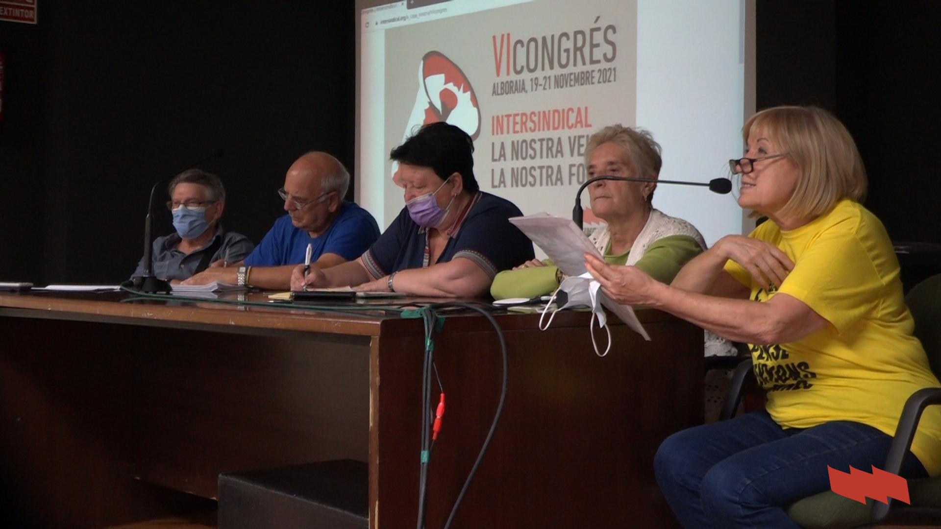 La lluita per les pensions públiques' Jornada precongressual a Sueca