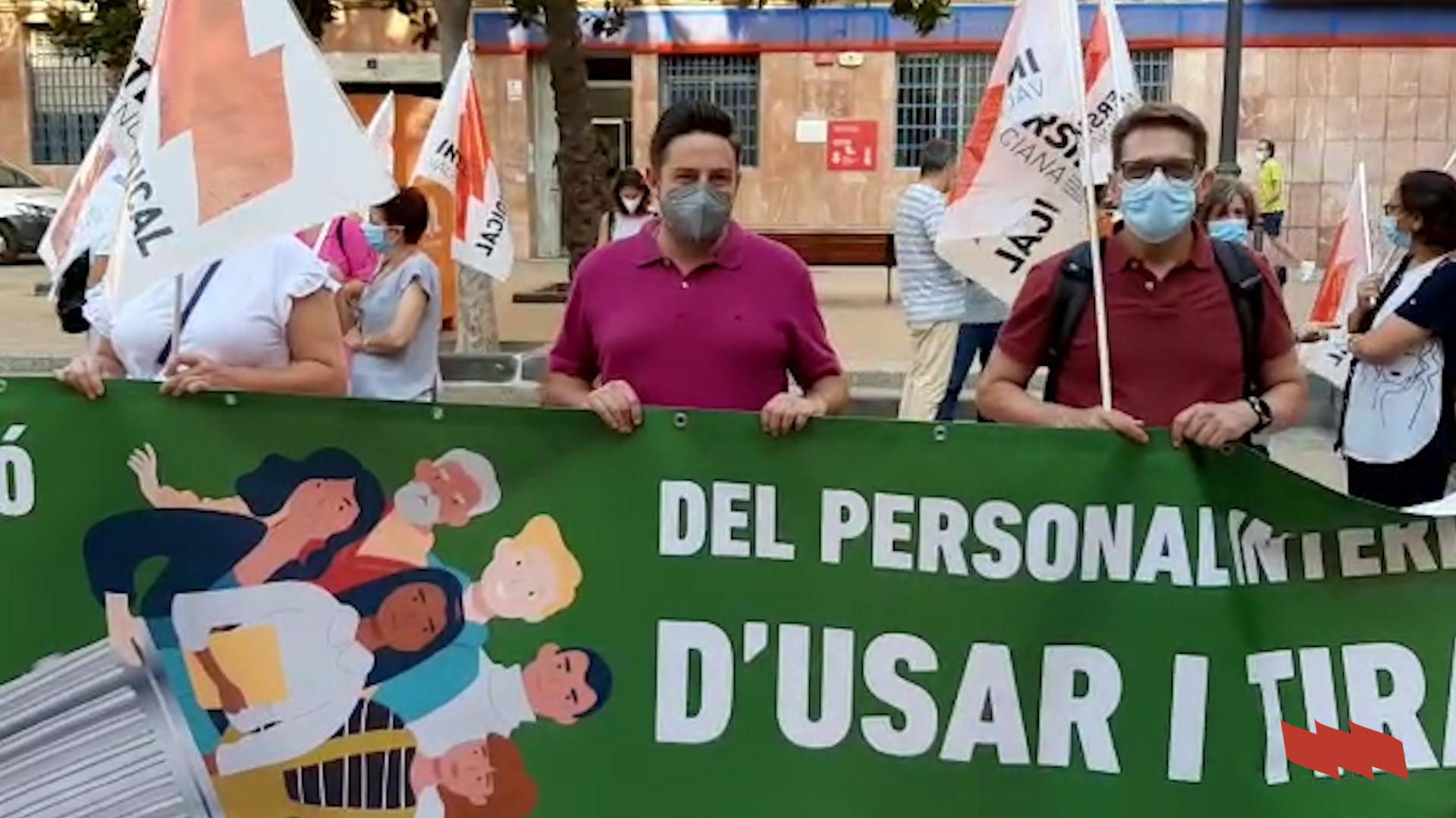 Concentració a València per la consolidació del personal temporal de les administracions