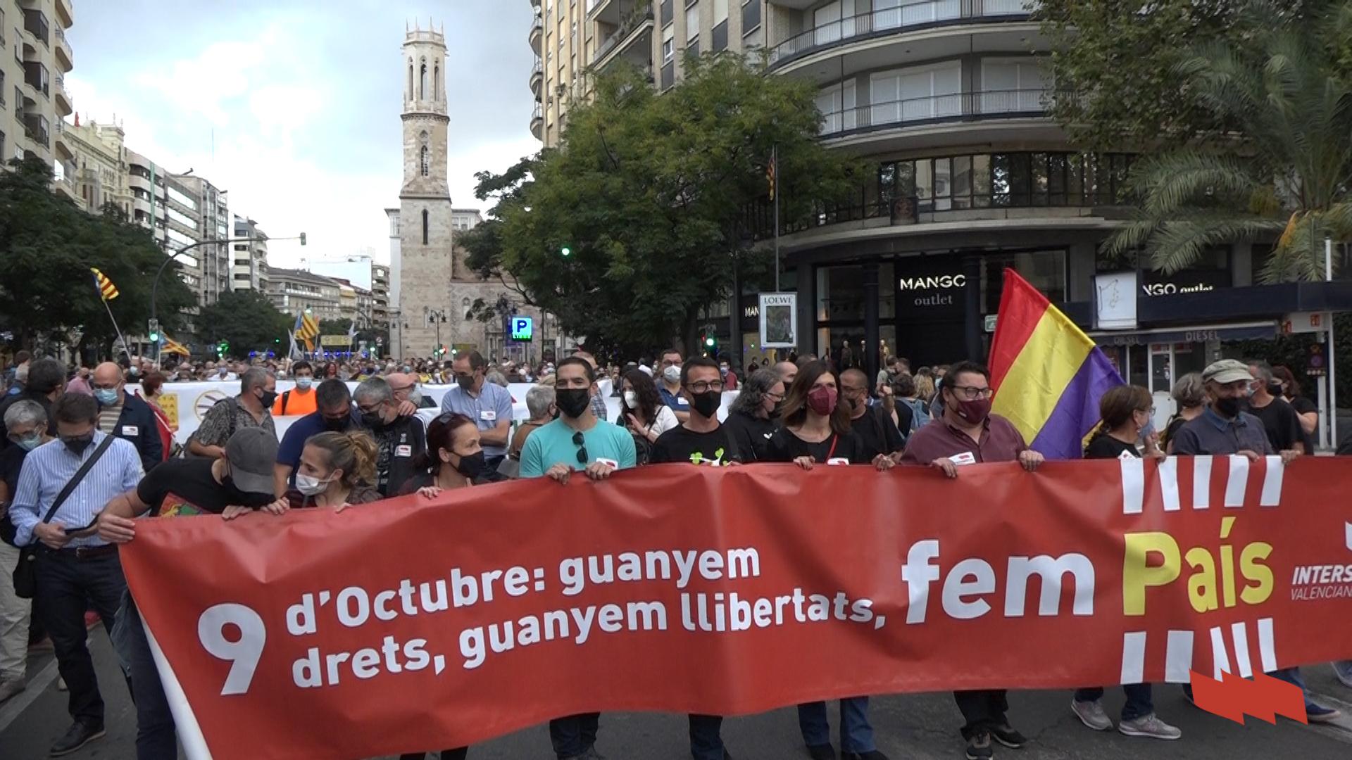 'Guanyem drets, guanyem llibertats, fem país' - Manifestació 9 d'octubre 2021