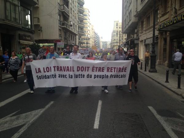 Pancarta de solidaritat