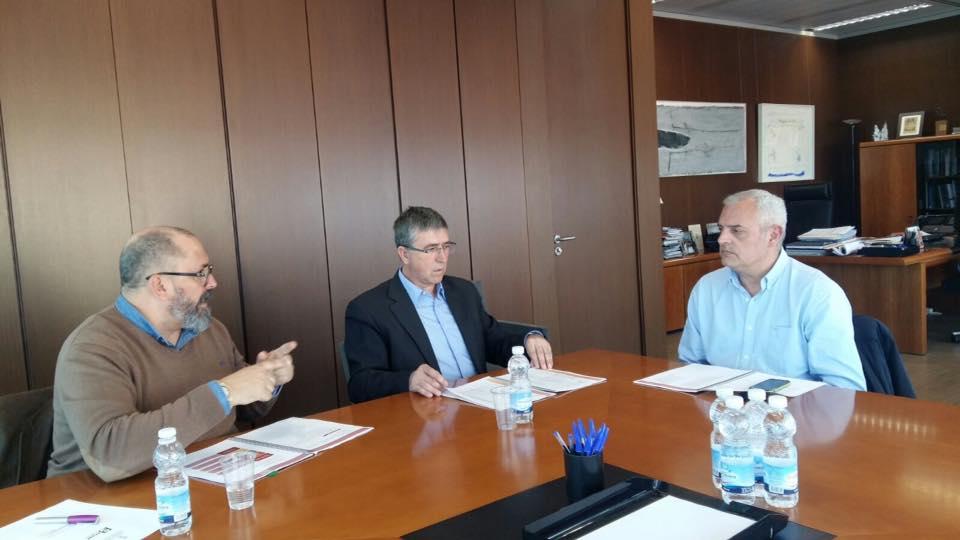 Un moment de la reunió de hui amb el Conseller d'Economia Sostenible.