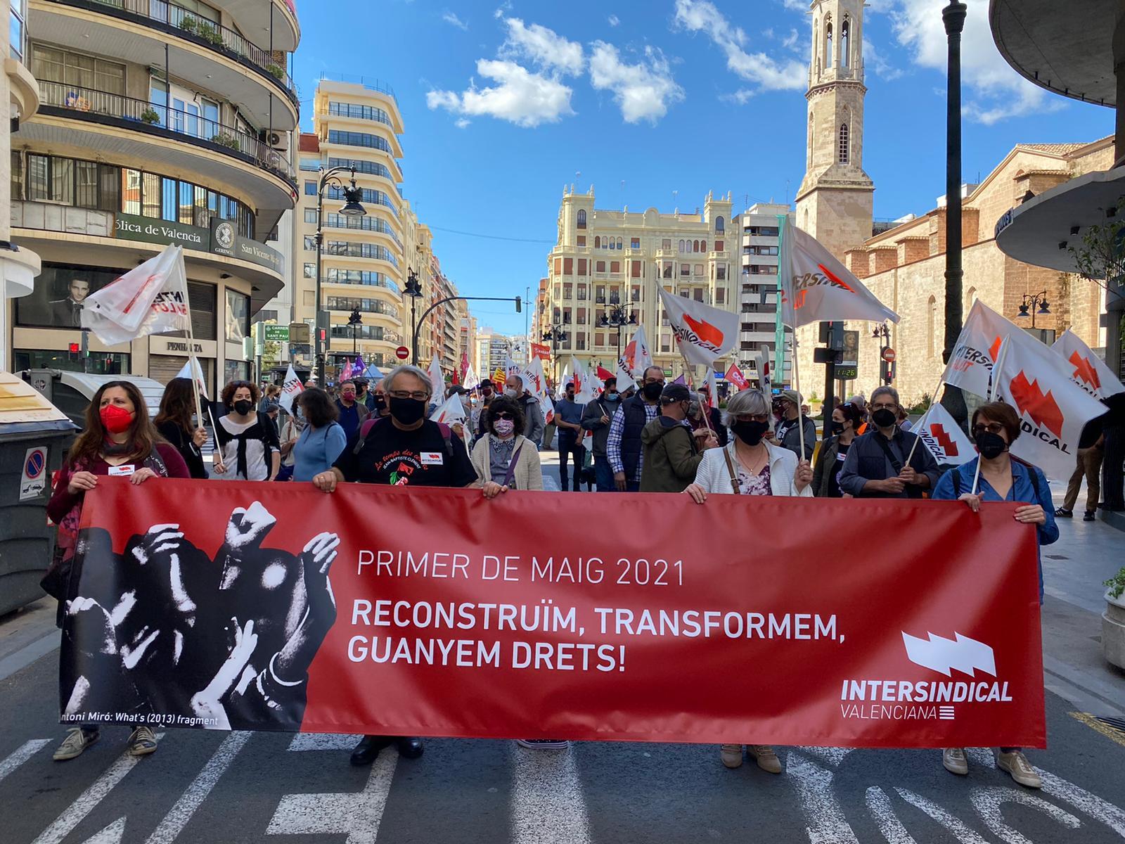 """Manifestació del 1r de maig de 2021: """"Reconstruïm, transformem, guanyem drets"""""""