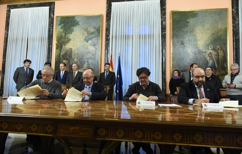 Signatura del II Acord de Millora de l'Ocupació Pública.