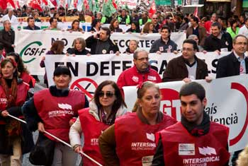 Una imatge de les mobilitzacions de 2012