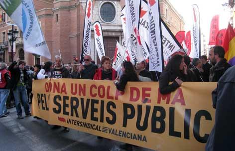Manifestació del 25-F pels carrers de Castelló