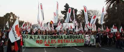 Manifestació del 29-M a València.