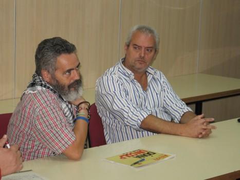 Sánchez Gordillo en una xerrada a la seu de la Intersindical Valenciana