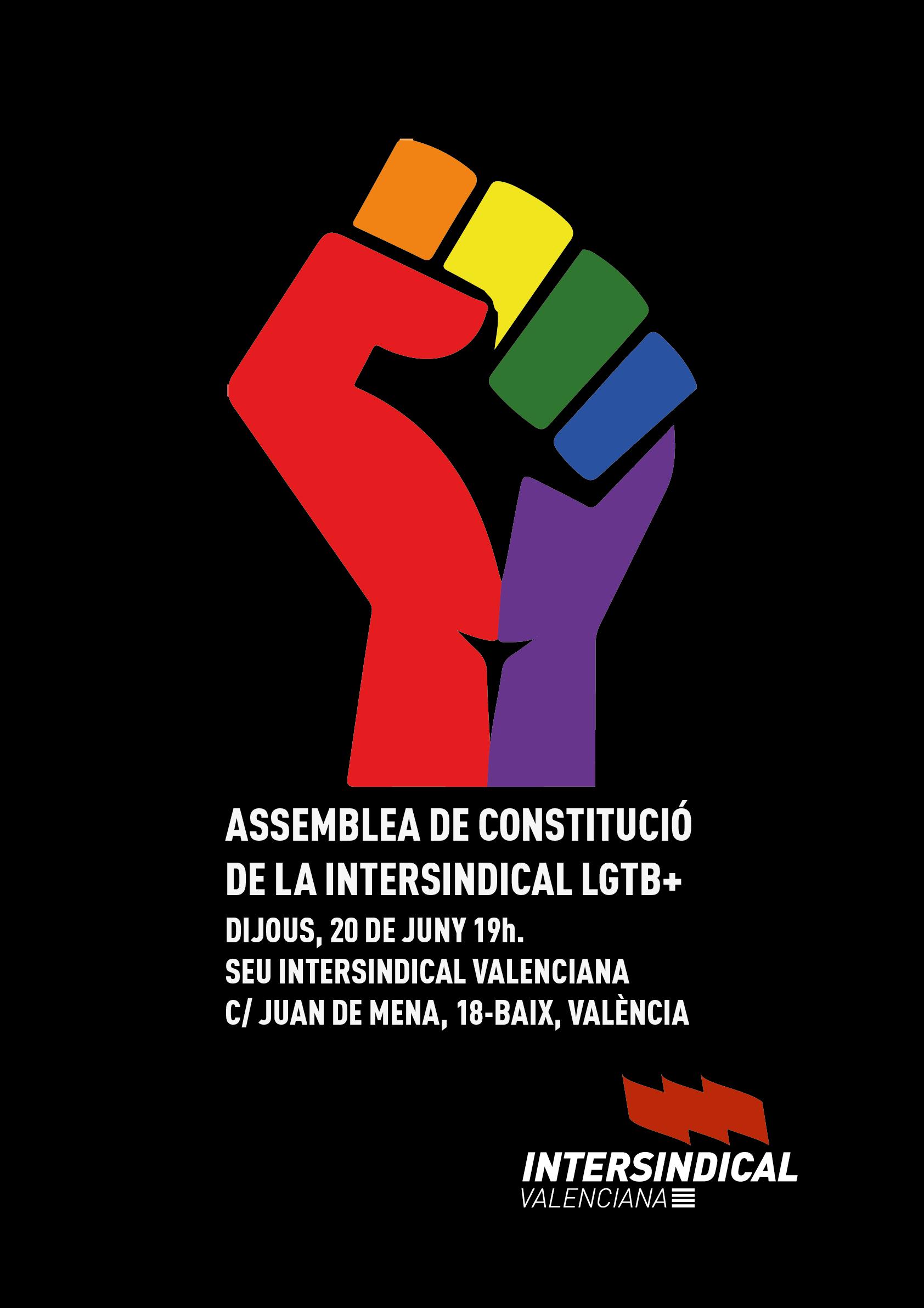 Intersindical Valenciana constitueix l'àrea LGTB+