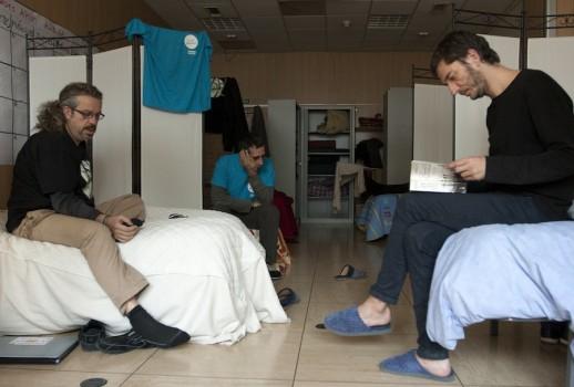 Treballadors de Telefònica en vaga de fam a Barcelona