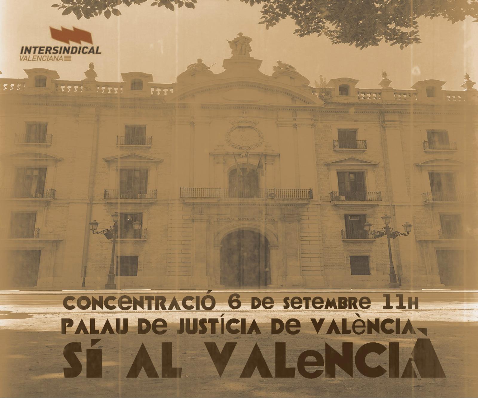 Imatge d'arxiu d'una mobilització en defensa del valencià.