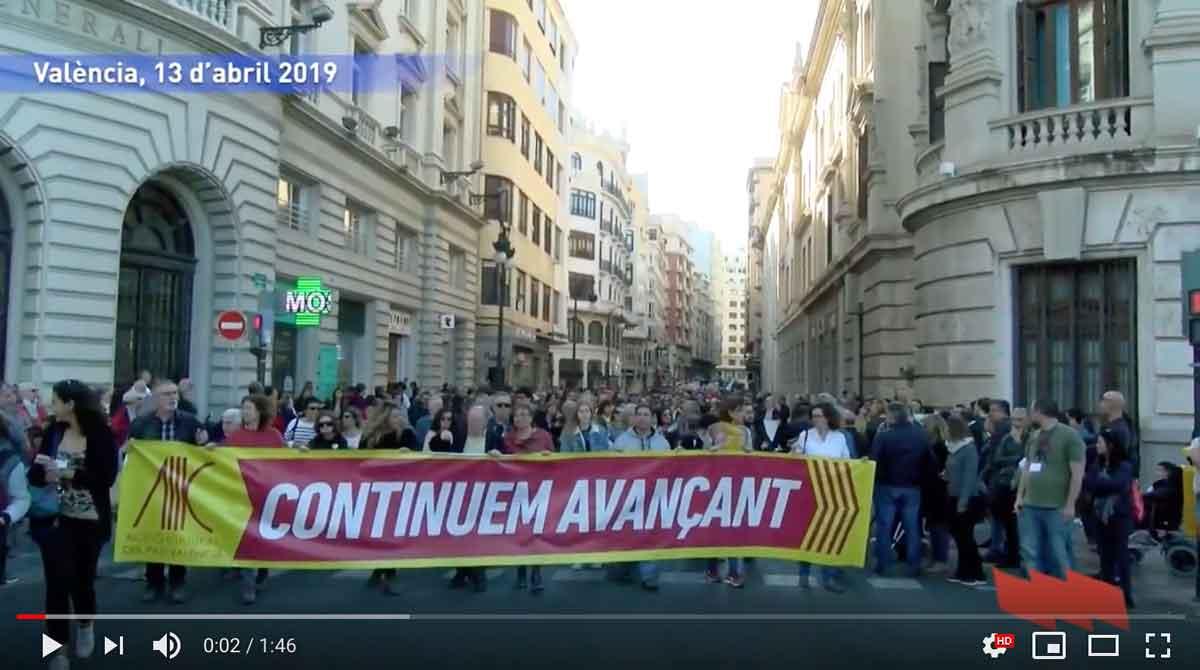 'Continuem avançant' manifestació del 25 d'abril