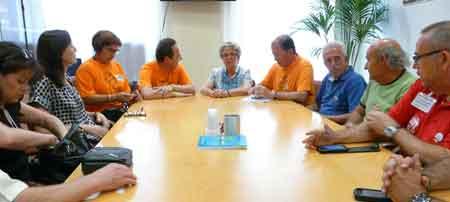 Entrevista de suport al Síndic de Greuges divendres passat a Alacant.