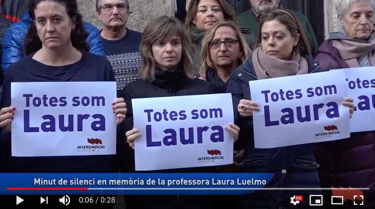 Minut de silenci per la mort de la professora Laura Luelmo