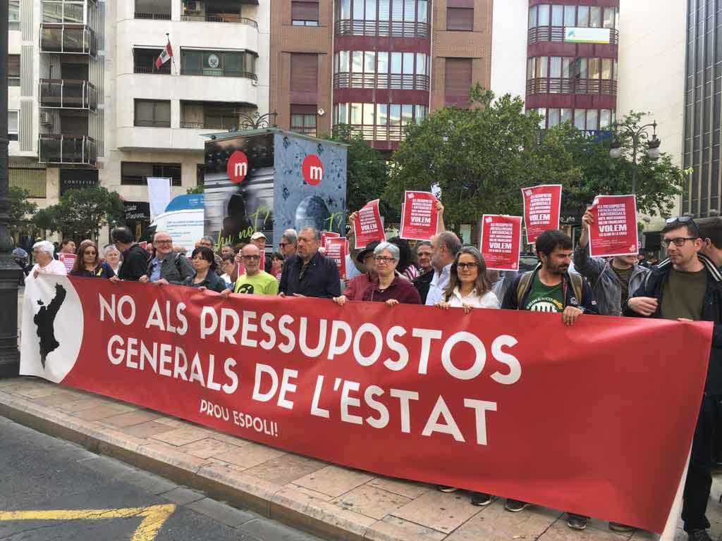 La Concentració d'ahir, a la delegació del Govern de València