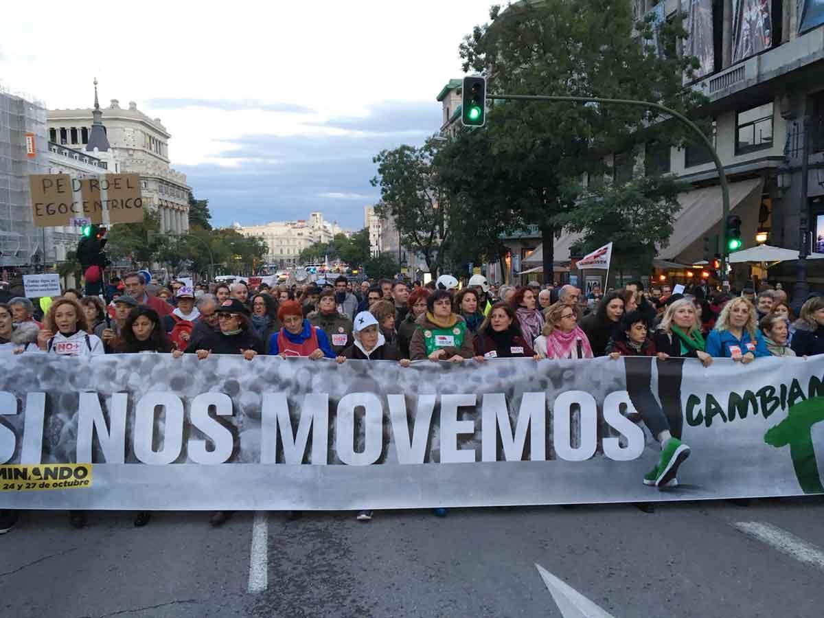 Imatge de la manifestació del 27-O a Madrid
