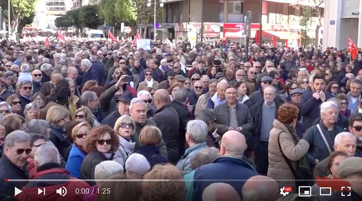 15 de desembre, manifestació en defensa del sistema públic de pensions