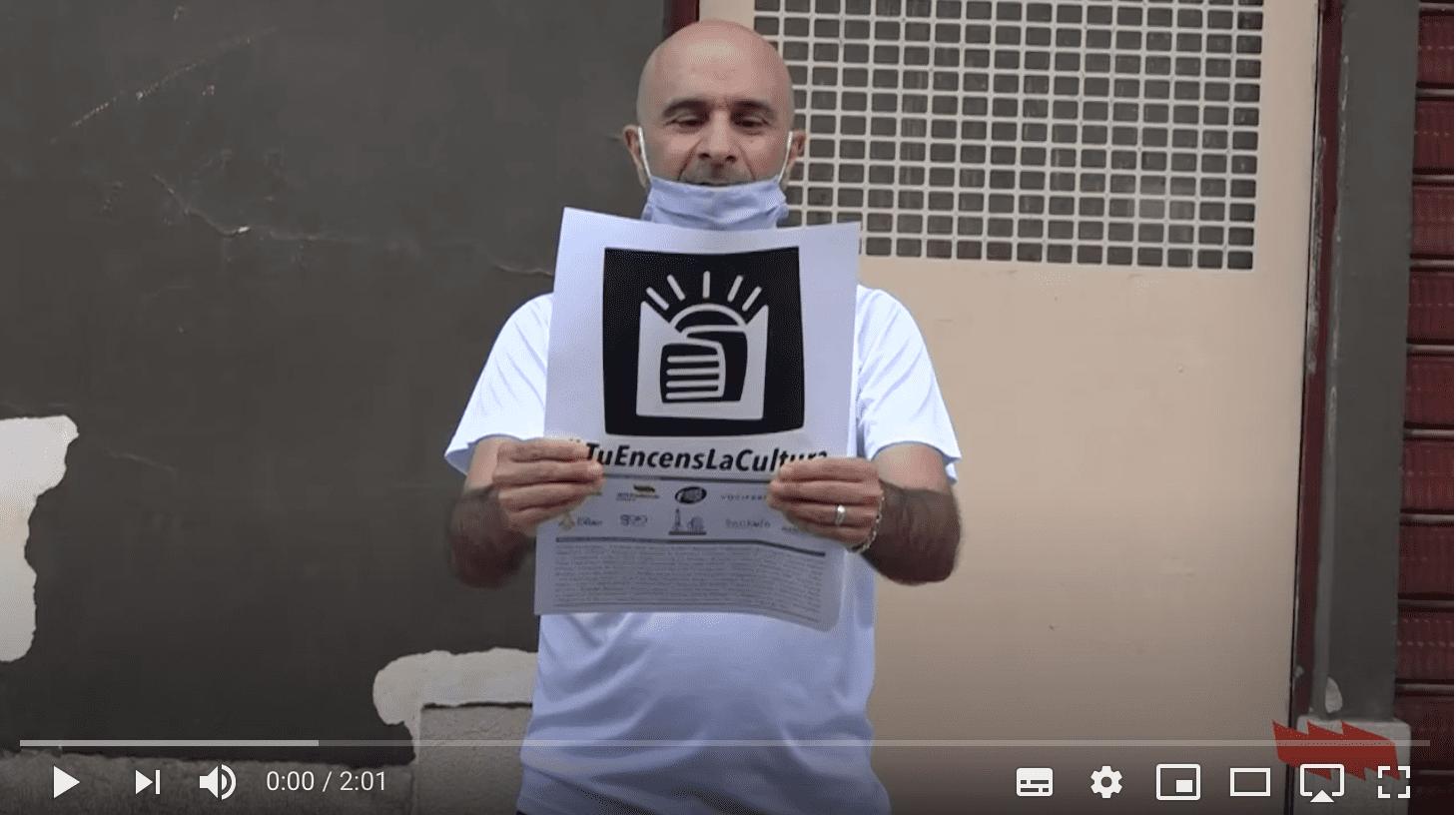Primera lectura pública del manifest 'Tu encens la cultura'