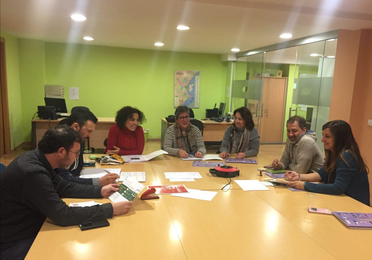 Reunió entre Intersindical Valenciana i Castelló en Moviment sobre ocupació.