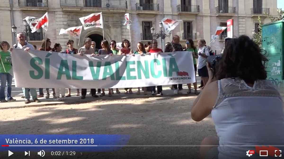 Concentració del 6 de setembre pel valencià