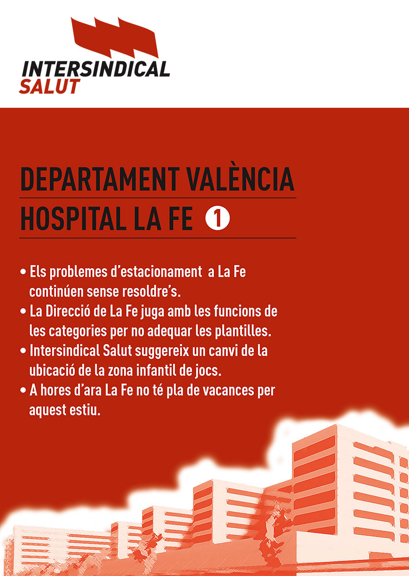 Intersindical Salut. Hospital La Fe 1