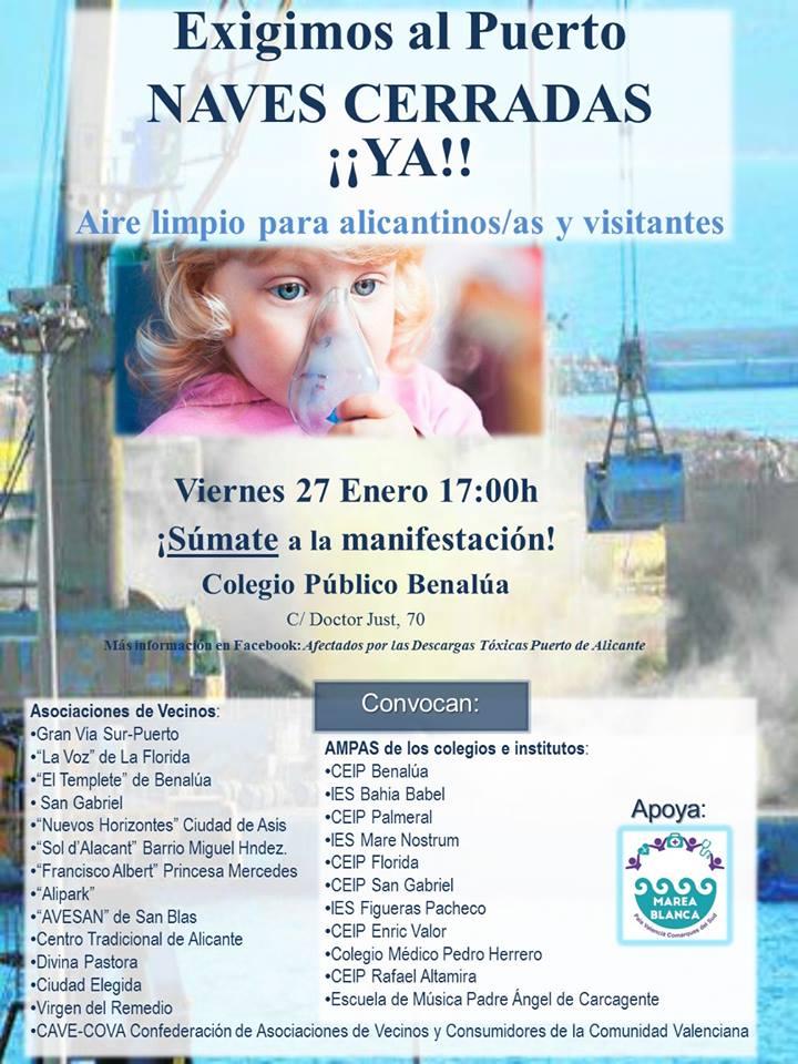Cartell de convocatòria per a la manifestació del 27 de gener.