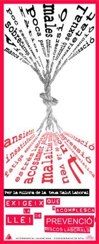 Imatge de la campanya sobre salut laboral i condicions de treball que vam fer l'any 2004.