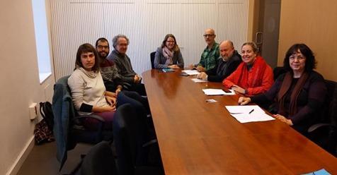 Diversos col·lectius de Xarxa Valenciana de l'Aigua amb ElenaCebriáni Julià Álvaro en 2017.