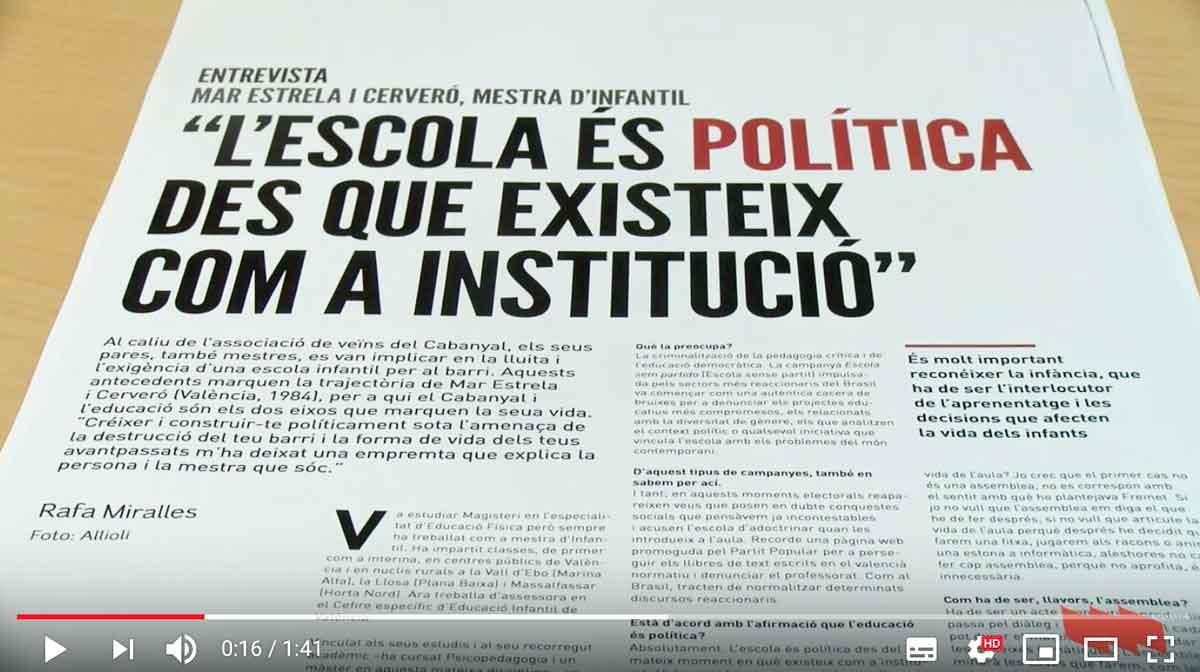 Allioli 'Política i Educació'