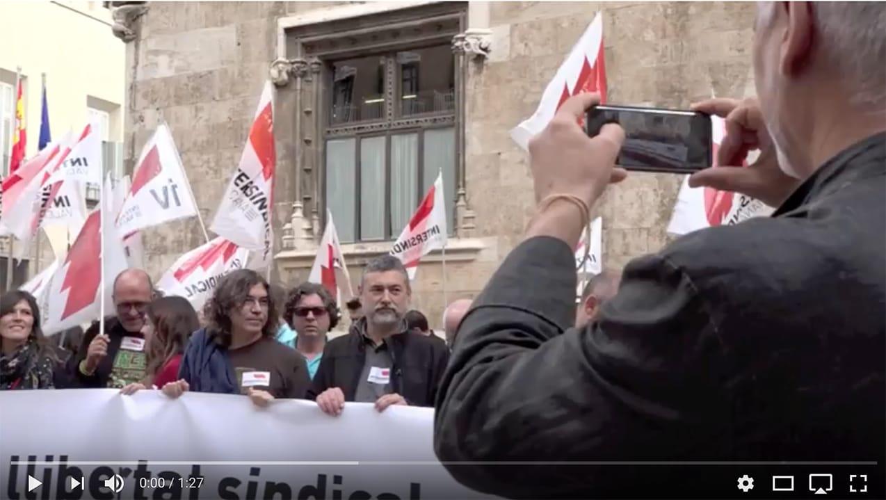 La Generalitat margina Intersindical Valenciana en el Fòrum de Diàleg