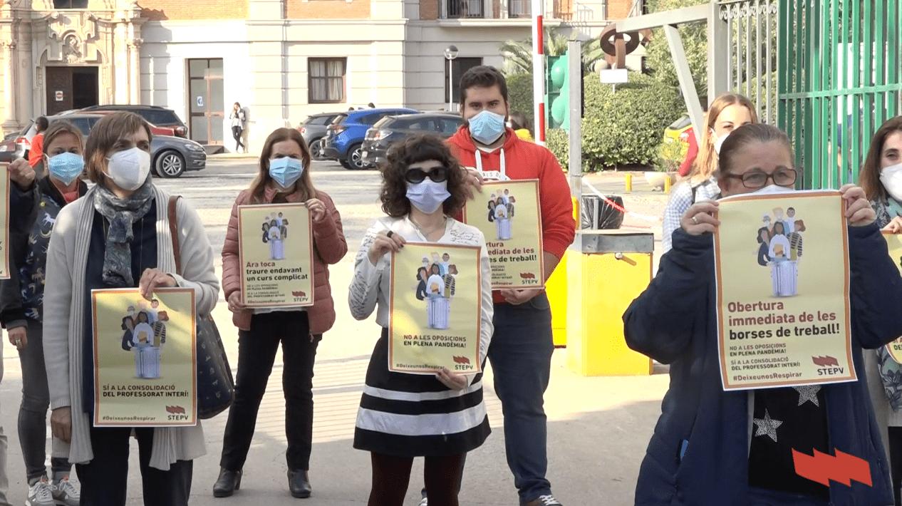 Concentracions contra les oposicions en temps de pandèmia