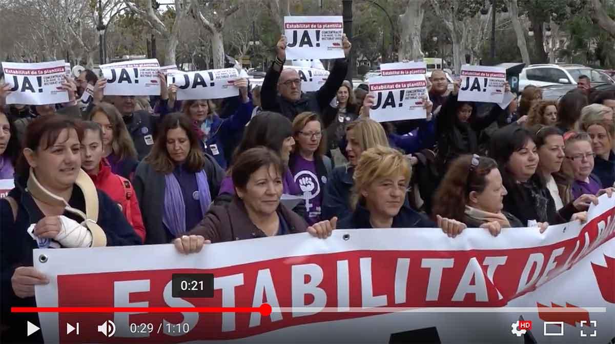 Vaga feminista del 8 de març (concentracions del matí)