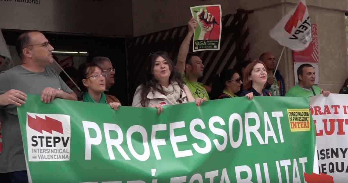 STEPV valora positivament la vaga de tres dies del professorat interí