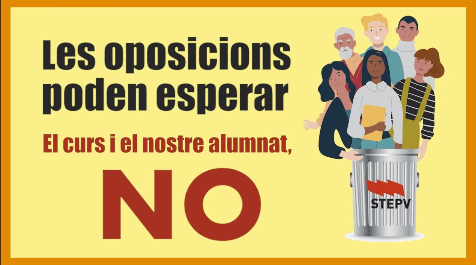Vaga! No a les oposicions en plena pandèmia!