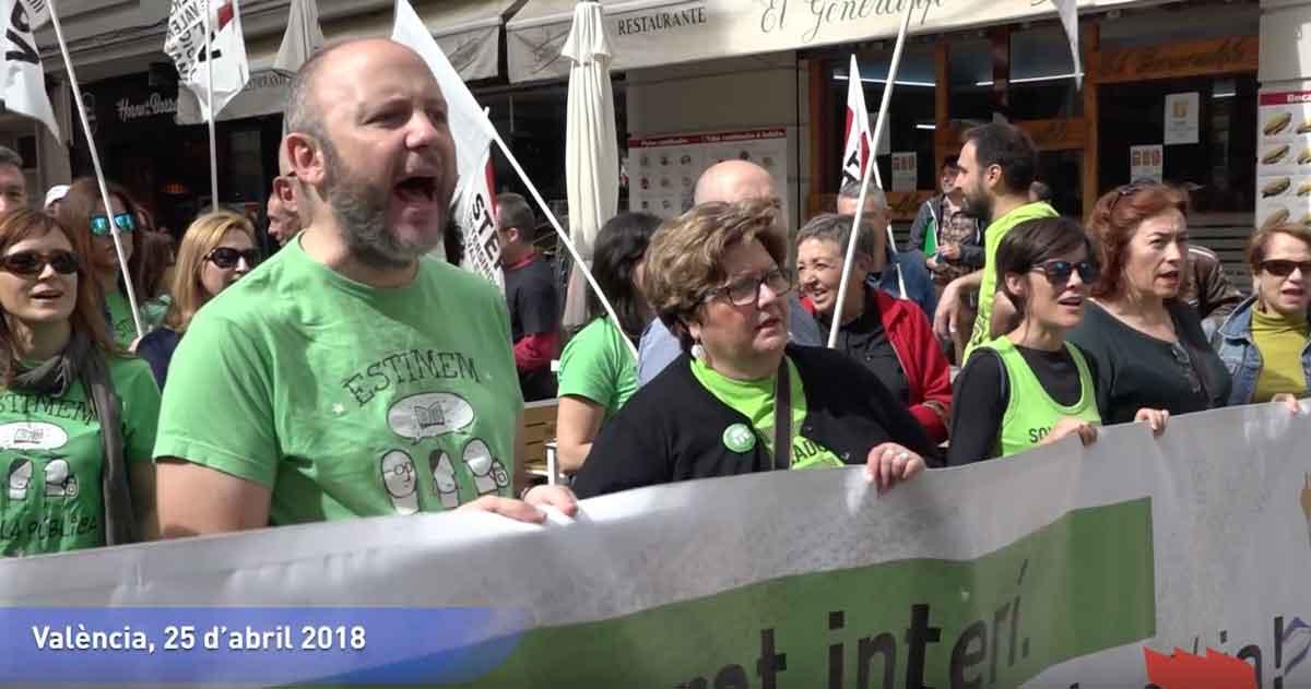 STEPV recorrerà els serveis mínims de la vaga del professorat interí