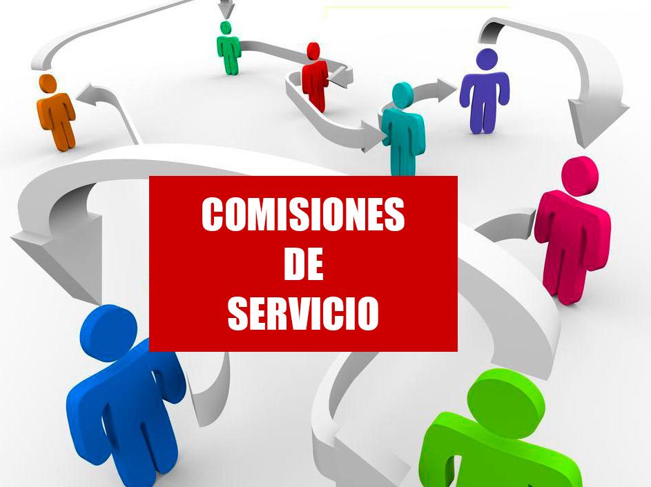 COMISIONES DE SERVICIO LISTADO PROVISIONAL