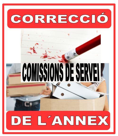 COMISSIONS DE SERVEI, AMPLIACIÓ PLAÇA CONVOCATÒRIA 22 JUNY