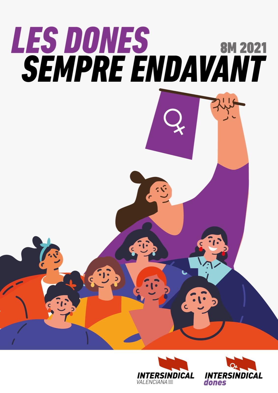 Manifest d'Intersindical Dones davant el 8M